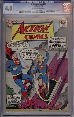 Action Comics #252 - CGC Graded 4.0 - 1st Appearance Of Supergirl