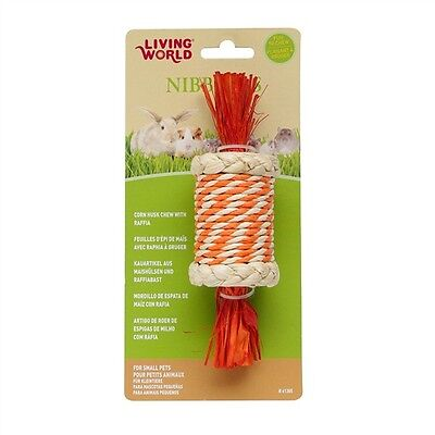 Living World NIBBLERS CORN HUSK CHEW Carrot or Candy Shape Small Animals Dental