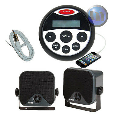 Marine Bluetooth Audio Kit MP3/USB/AM/FM/Ipod NEW Radio Boat Stereo Compact