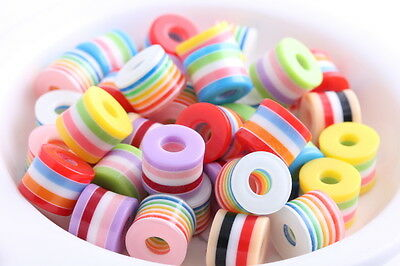 30 pcs mixed color Cylindrical Shape Resin beads spacer findings charms 11mm