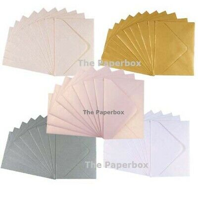 C7 Pearlescent Envelopes, Small, Mini, RSVP - variety of colours & pack sizes