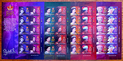 GB ALDERNEY/GUERNSEY 2006 - 80th Birthday 8 Values in Sheetlets of 10 FP6316