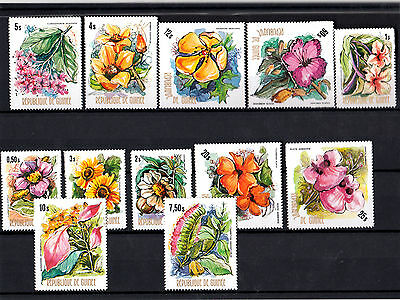 Republic of Guinea 12 Stamps New flowers plants MNH** Yvert Tellier 520/8 A107/9