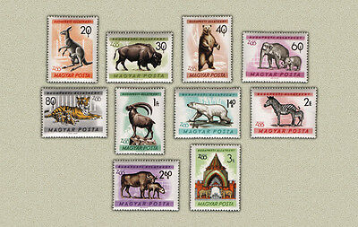 Hungary 1961. Animals Zoo set MNH (**) Mi.:10 EUR