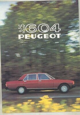 1981 Peugeot 604 Brochure French my5985