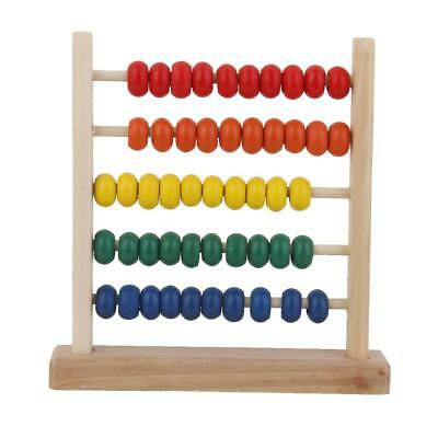 Baby Kids Wooden Abacus Counting Number Maths Aid Learning Educational Toys