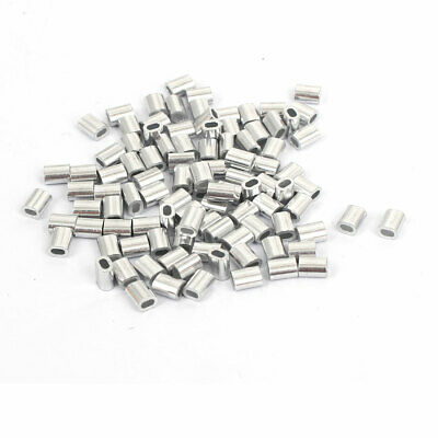 Steel Wire Rope Crimping Sleeves Clips Cable Ferrules 20 Pcs 1//16 inches uxcell M1.2 Aluminum Oval Sleeve 1.4mm