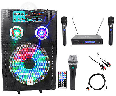 "NYC Acoustics Powered 12"" Karaoke Machine/System 4 ipad/iphone/Android/Laptop/TV"