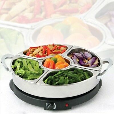 5 Buffet warmer Stainless steel container Warming tray 1200 W Cool Touch Handles