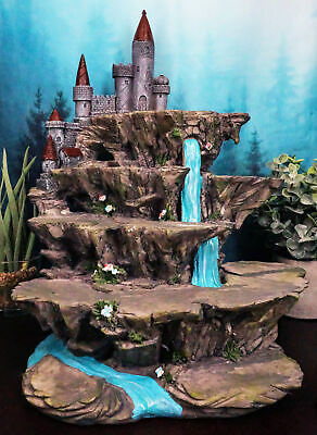Mythical Fantasy Miniature Display Stand Waterfall With Castle Peak Figurine