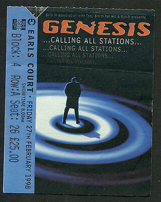 Genesis 1998 Concert Ticket Stub London Calling All Stations Phil Collins