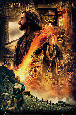 The Hobbit Desolation of Smaug Fire Poster Official Maxi JRR Tolkien New FP3089