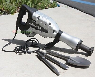 2200 Watt  DEMOLITION BREAKER JACK HAMMER CONCRETE CEMENT+ SPADE SCOOPE SHOVEL