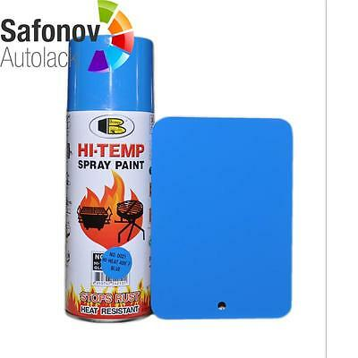 BOSNY Blue Heat resistant Thermal paint up to 200 °C Spray paint 400 ml Nr 0021