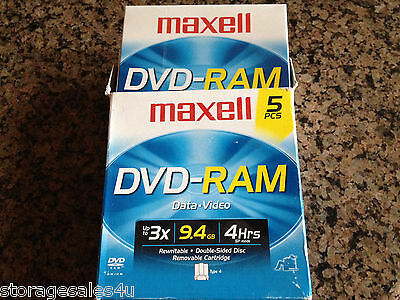 MAXELL DVD-RAM 9.4GB Double-sided disc removable TYPE 4 Cartridge - NEW - 1 DISK