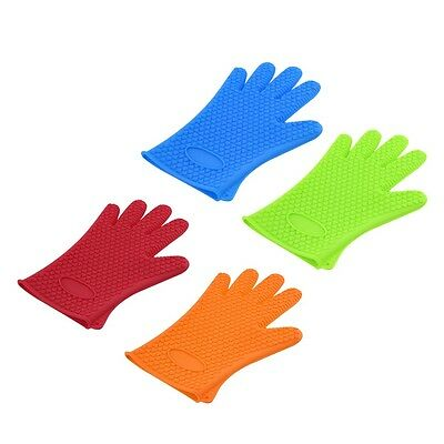 Kitchen Heat Resistant Silicone Glove Oven Pot Holder Baking BBQ Cooking Tool GH