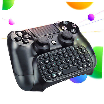 3.5mm Plug Black Mini Wireless Chatpad Message Keyboard for PS4 Controller GH