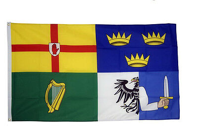 4 Provinces Of Ireland Flag 5 x 3 FT- 100% Polyester - Irish Republican Rebel IE