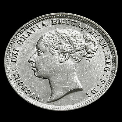 1887 Victoria Young Head Silver Sixpence – G/EF