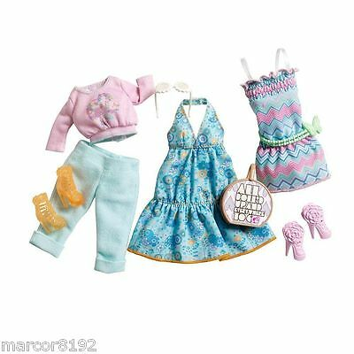 Barbie Doll Fashionistas Clothing Summer Pack 3 Fashions Oufits new