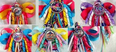 My Little Pony Group Pinkie Pie Fluttershy Dash Twilight Hair Bow with Beads