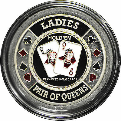 Casino Poker Card Guard Cover Protector LADIES silver color