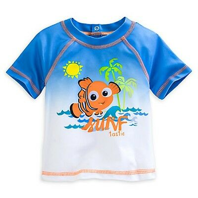 Disney Store Finding Nemo Rash Guard For Baby Surfer Style Stretch Swim Shirt