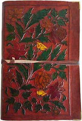 "6""x9"" Flowery Leather Book of Shadows, Journal, Diary!"
