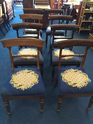 Set of 8 Regency Mahogany Dining Chairs Tapestry Seats Very Grand