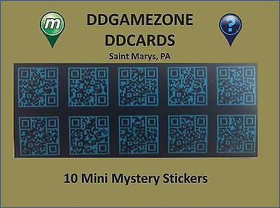 10 Munzee Mini Mystery stickers, with FREE Extra and shipping