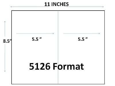 "Generic Blank Shipping Labels 8 1/2 x 5 1/2""  600 pk 2 Labels per Page"