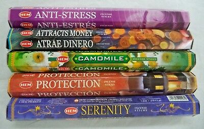 Hem Best Seller Incense Stick Set #4: Top 5 x 20 = 100 Sticks Bulk Sampler