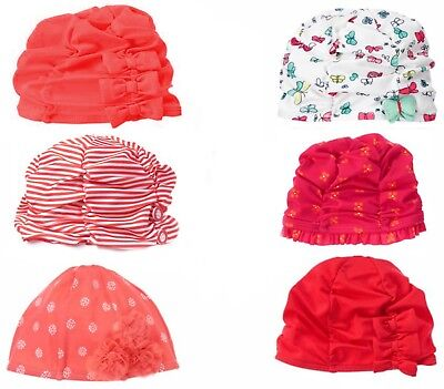 Gymboree Swim Hat Cap Olivia, Spring Peach, Ruched,Butterfly NWT 0 3 6 12 18 24