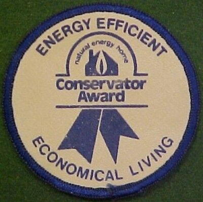 Energy Efficient Conservator Award Patch