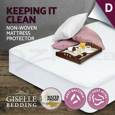Fully Fitted Waterproof Mattress Protector Non Woven Double Cover