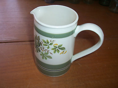 70's Vintage Retro English Sadler Green Floral Leaf Pattern Milk/Cream Jug