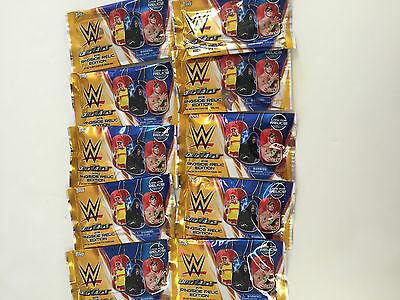 2015 Topps Wwe Dog Tags Ringside Relic Edition Packs ( 10 Pack Lot )