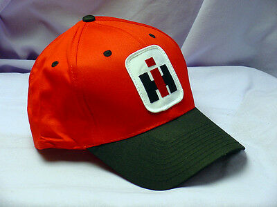IH International Harvester red, with black brim, adult patch cap, full back, NEW