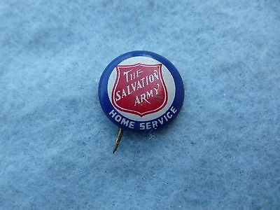 WWI US Pin The Salvation Army Home Service Celluloid Button Pin Geraghty & Co