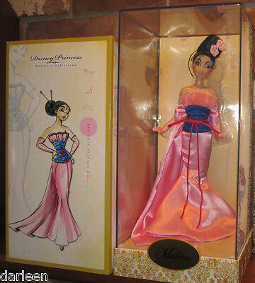 2011 Disney store Designer Collection MULAN collector doll LE limited edition