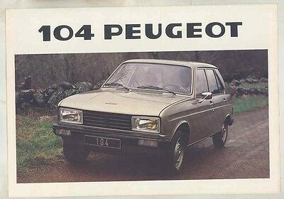 1979 Peugeot 104 Brochure French my5975