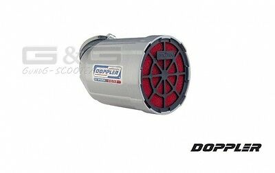 Air filters Race air filter Doubler Venturi in silver Grille black Roller Quad