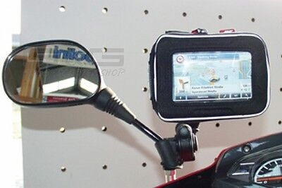 Navigation pocket Univers. with Mirror mounts Motorcycle Motorbike Scooter