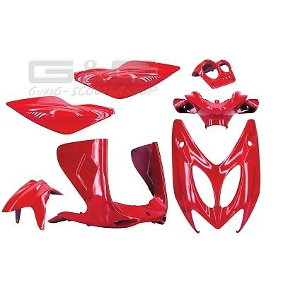 Tnt Fairing Kit 7 Fairing Parts In Red Mbk Nitro Yamaha Aerox