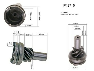 Kick start Sprocket Driving 12,5mm for Peugeot Scooter with Mikuni Oil pump