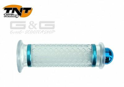 Tnt Ball Transparent / Blue Grips Cpi Piaggio Yamaha Mbk