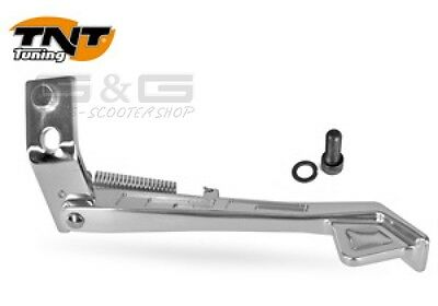 ALUMINUM SIDE STAND TNT King Size IN CHROME FOR MBK BOOSTER YAMAHA BW`S BWS