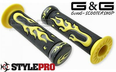 Grips Lights Yellow For Minibike Motorcycle Quad Scooter