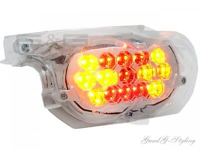 Led Rear Light With Indicator And E-Certified For Mbk Ovetto Yamaha Neos