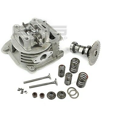 Cylinder head incl. Valves Camshaft and Bearing for GY6 50CC 4 Takt 139QMA/B